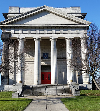 The former Masonic Temple in Watertown, NY