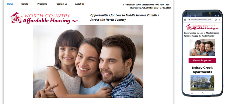 North Country Affordable Housing Website